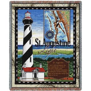 St Augustine Lighthouse | Woven Blanket | 53 x 70