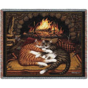Charles Wysocki | All Burned Out | Cotton Cotton Throw Blanket | 70 x 54