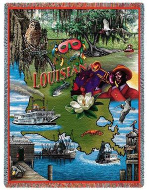 "Louisiana | Tapestry Blanket | 54"" x 70"""