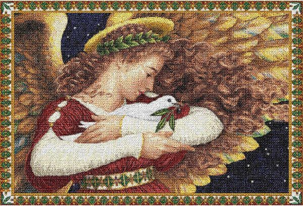 Angel and Dove   Christmas Placemats   13 x 18
