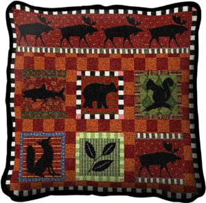 "Adirondack Lodge Decorative | Throw Pillow | 17"" x 17"""