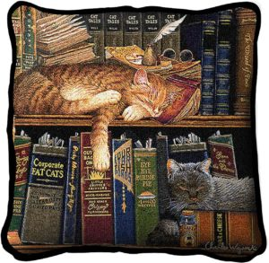 Remington The Well Read | Cats Pillow