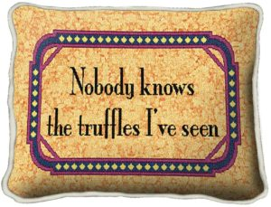 Truffles | Woven Tapestry Throw Pillow | 9 x 13