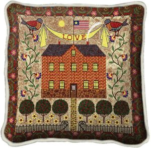 "Charles Wysocki | Home Sweet Home | Throw Pillow | 17"" x 17"""