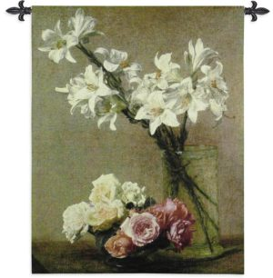 "Roses & Lilies | 41"" x 53"" 