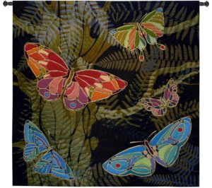 Woodland Butterfly   53 x 53   Woven Wall Tapestry