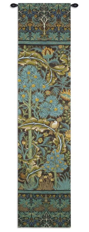 William Morris' In the Blue Wood II | 16 x 70 | Woven Tapestry Hanging