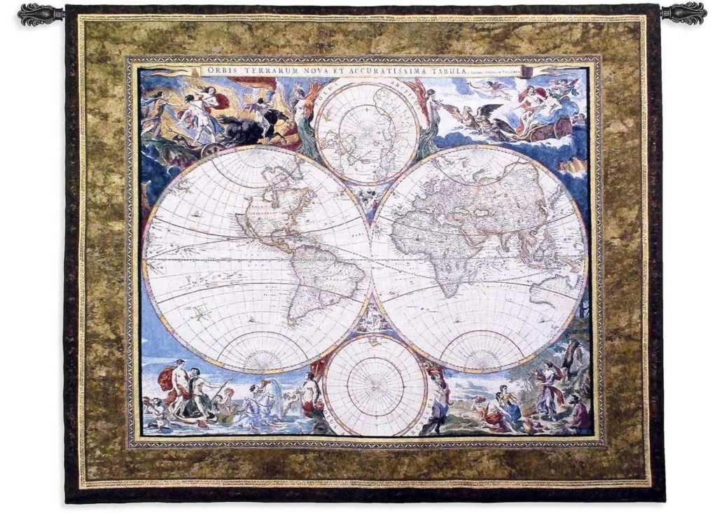 """World Map Tapestries 