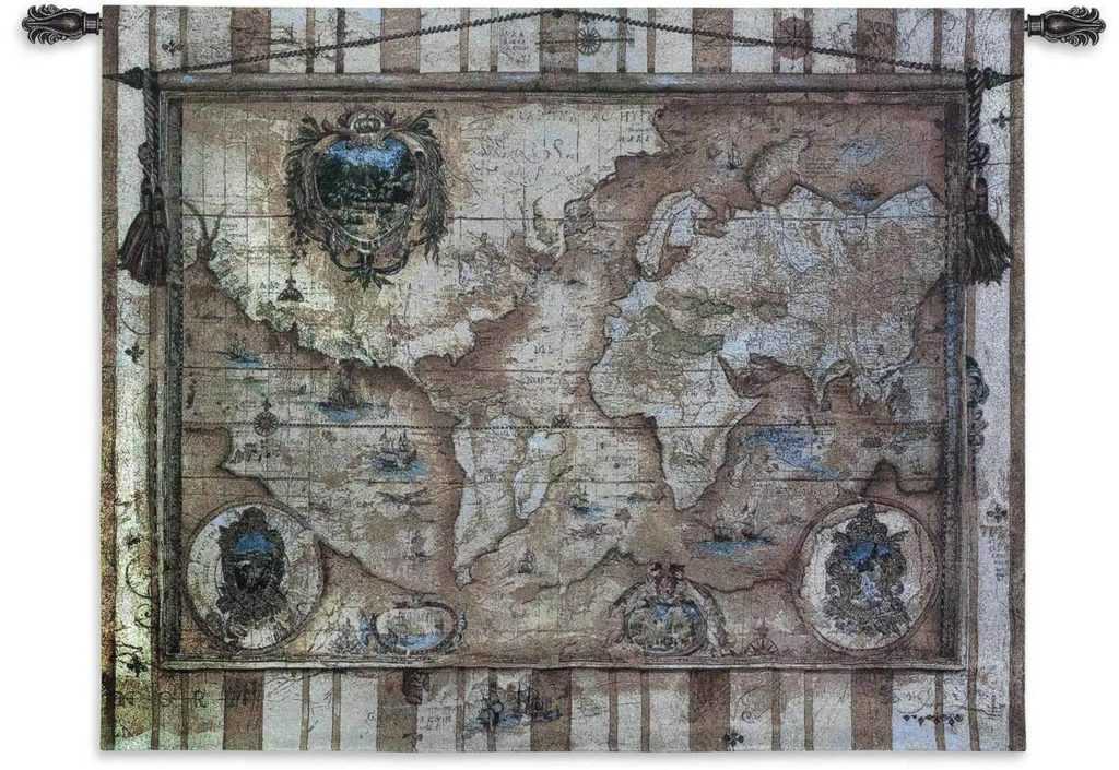 World Map Tapestries | Souvenirs des Voyage World Map Tapestry