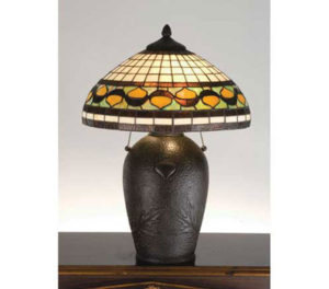 Tiffany Stained Glass Acorn Table Lamp