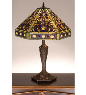 Tiffany Stained Glass Elizabethan Tiffany Stained Glass Table Lamp
