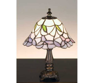 Tiffany Stained Glass Daffodil Bell Small Accent Lamp