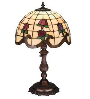 Roseborder Accent Tiffany Stained Glass Decorative Lamp