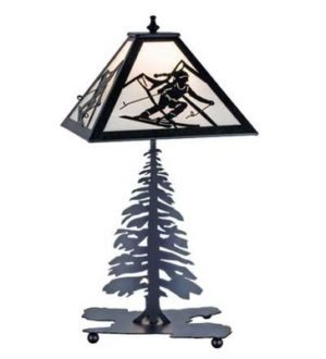 Skier Table Lamp