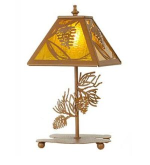 Pinecone Rustic Lodge Table Lamp