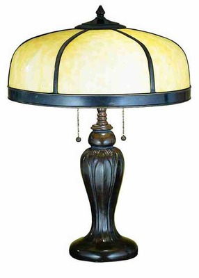 Tulip Vase Base Two Light Table Lamp