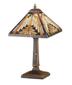 Navajo Mission Tiffany Stained Glass Accent Lamp