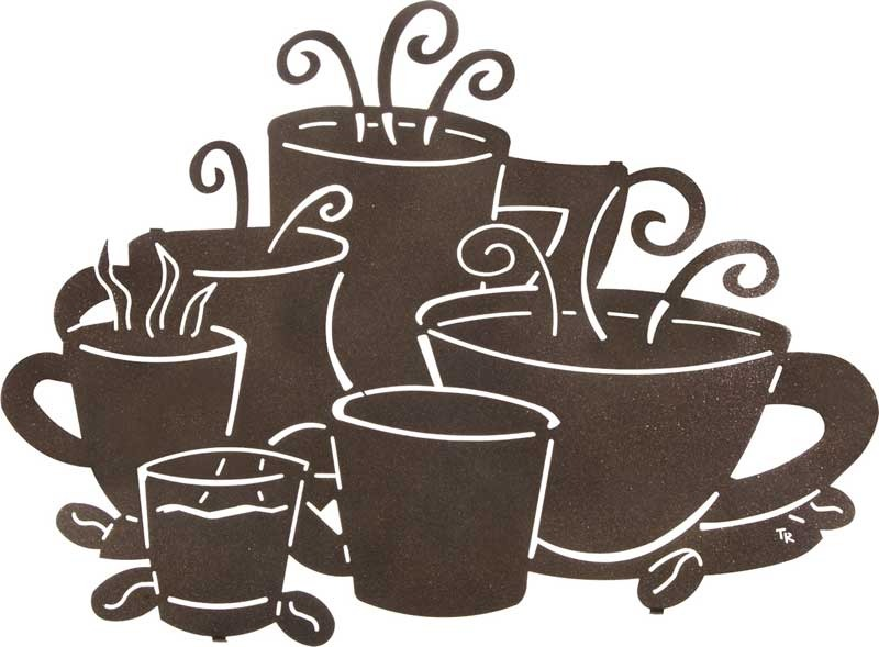 Coffee Decor for Coffee Lovers | Tara Reed | Cup Size Matters | 24″ | Coffee Cup Metal Wall Art