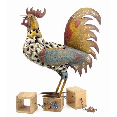 August Grove | Cropper Metal Rooster Statue
