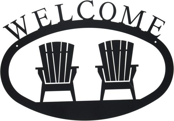 Adirondack Chairs Large Wrought Iron Welcome Sign
