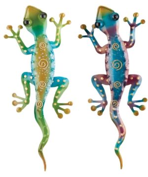 Colorful Southwest Gecko Metal Art