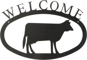 Cow Large Wrought Iron Welcome Sign