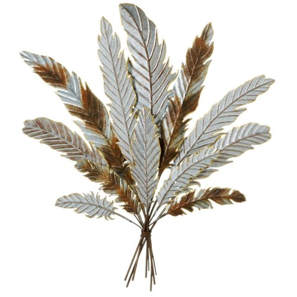 Galvanized Metal Feather Bouquet Wall Art
