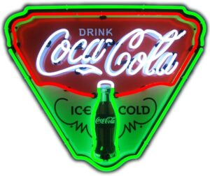 Neonetics Ice Cold Coca-Cola Retro Triangle Neon Sign
