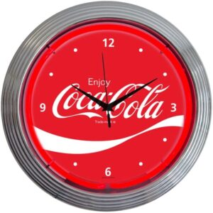 Neonetics Retro Coca-Cola Wave Logo Neon Clock