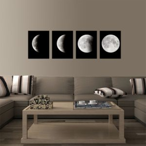 Phases of the Moon 4-Piece Canvas Art Set