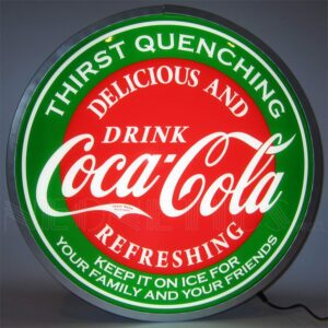 Retro Coca-Cola Evergreen Backlit LED Sign