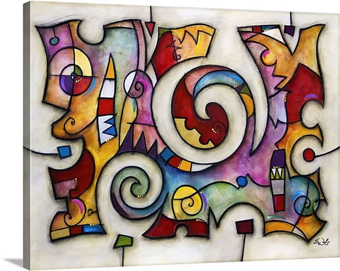 : Eric Waugh Art | Big Swirl Canvas Wall Art