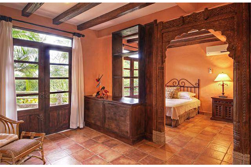 Mel Gibson's $30 Million Costa Rica Jungle Compound: Carved Wood Archway
