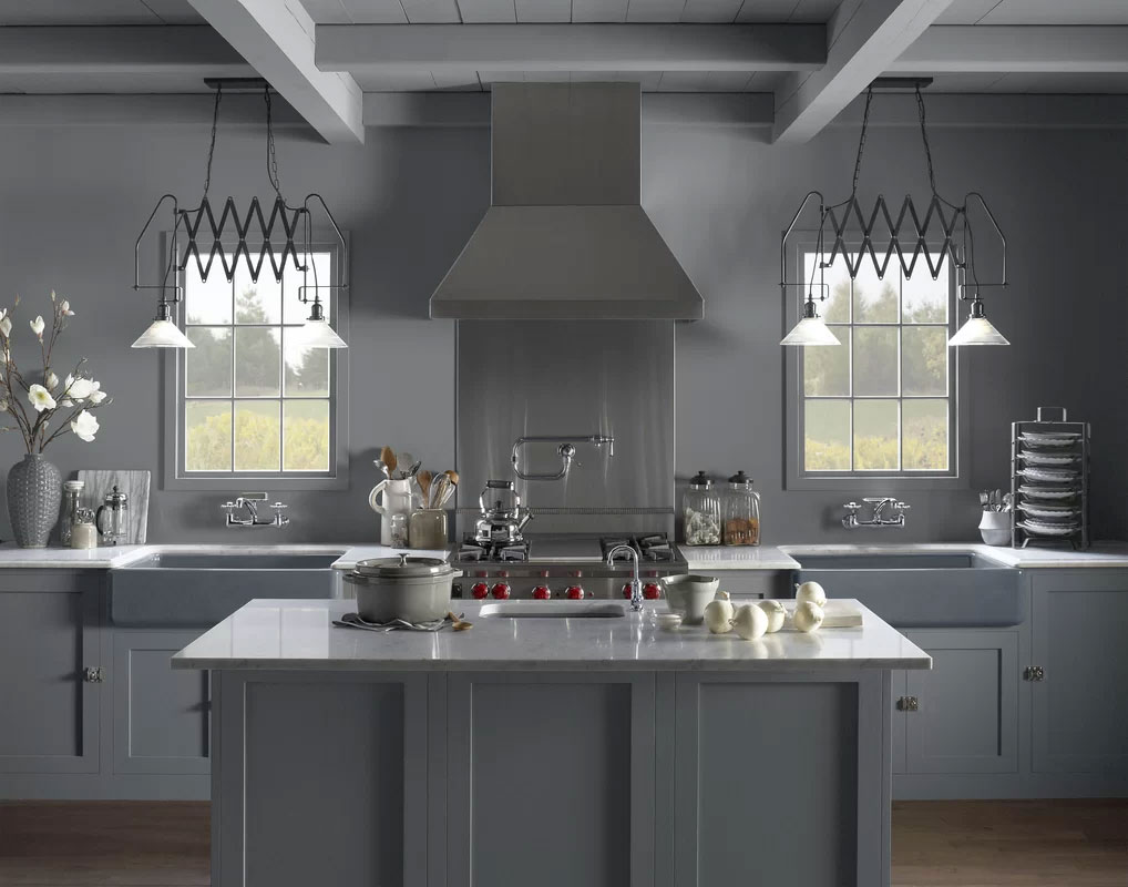 Steel Gray Industrial Kitchen