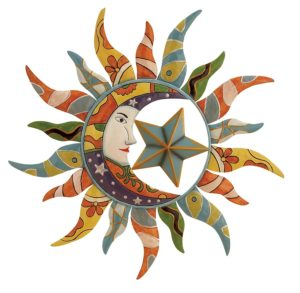 Sun, Moon & Stars | Metal Wall Art | 24""