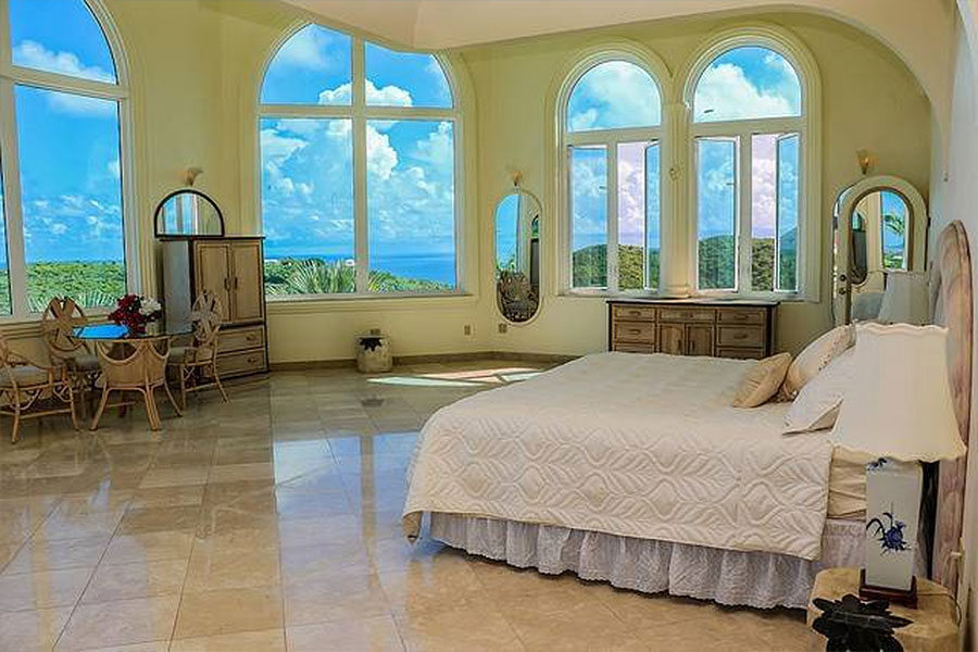 Bulgarian Contessa Nadia Farber's Virgin Islands Castle Bedroom