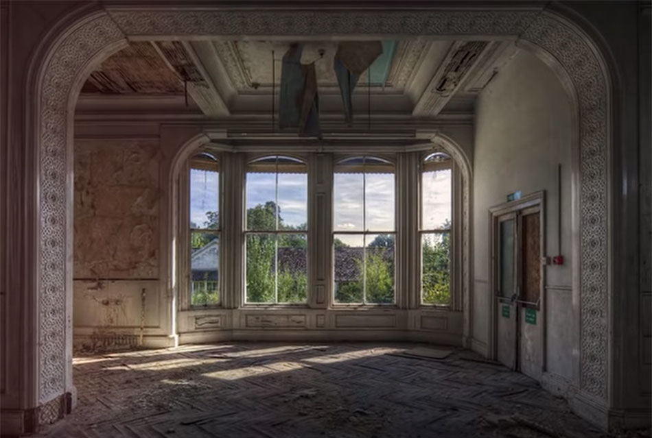 Abandoned Castle Window
