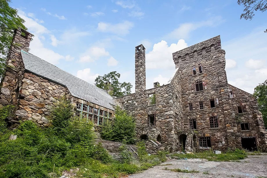 Abandoned Elda Castle in Ossining, New York