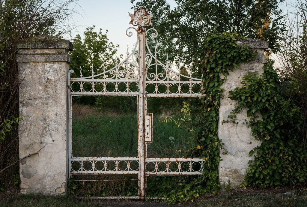 Entry Gate to Abandoned Property