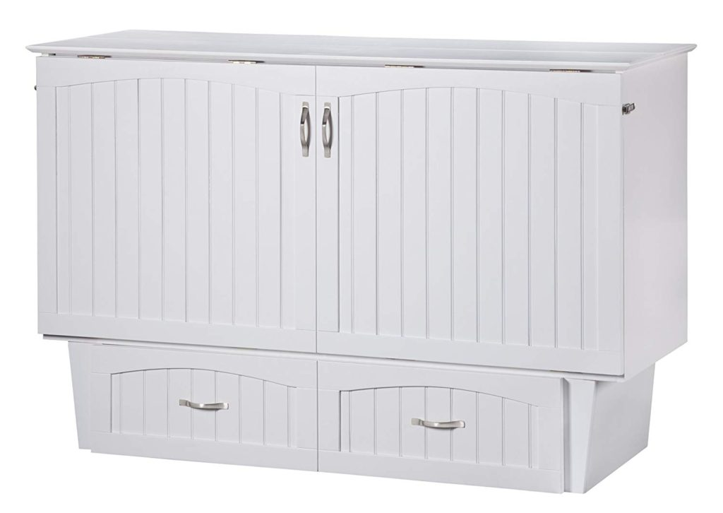 Multipurpose Furniture | Atlantic Furniture Murphy Bed Chest | Nantucket White