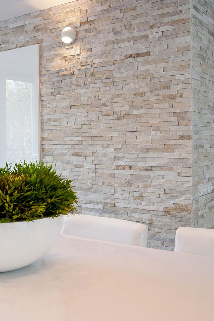 Breezy Quarried Stone Wall