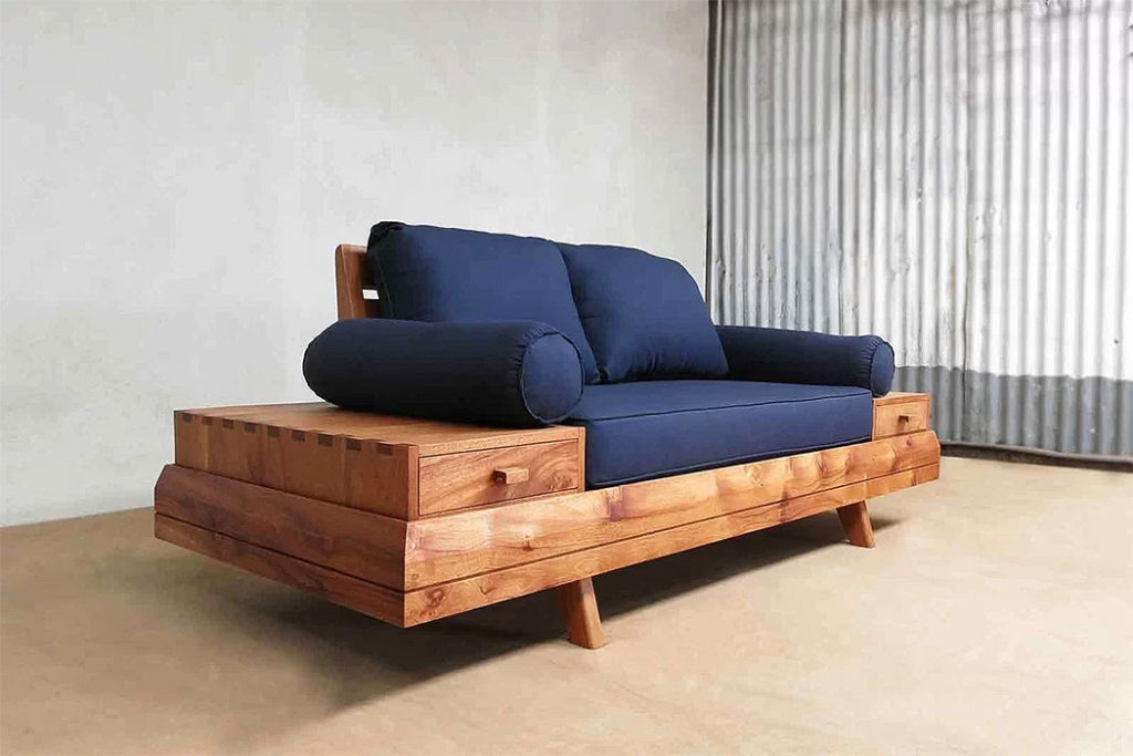 The Sustainable Rustic Floating Sofa
