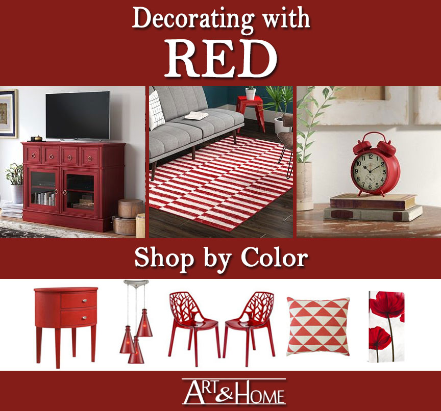 Red Furniture & Home Decor Accents