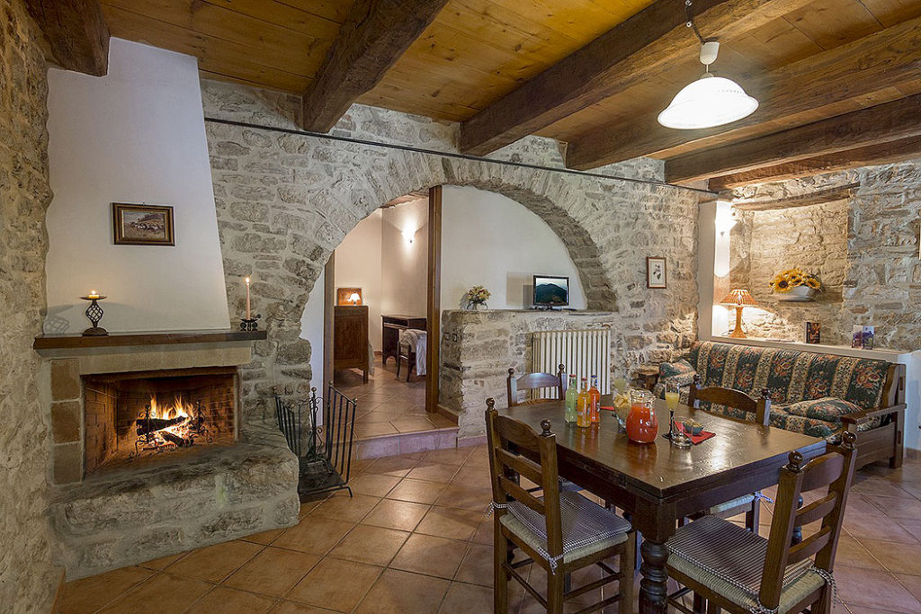 Rustic Stone Dining Room