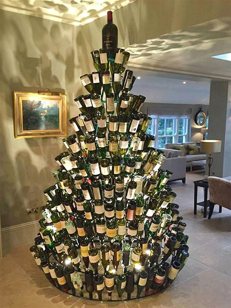 The Wine Bottle Christmas Tree