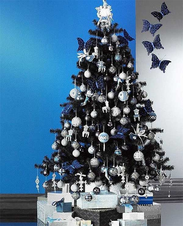 The Black, Sliver, & Blue Butterfly Tree