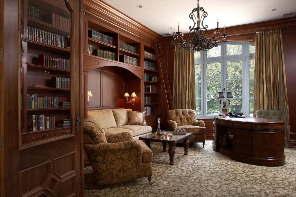 Brown Home Office Design