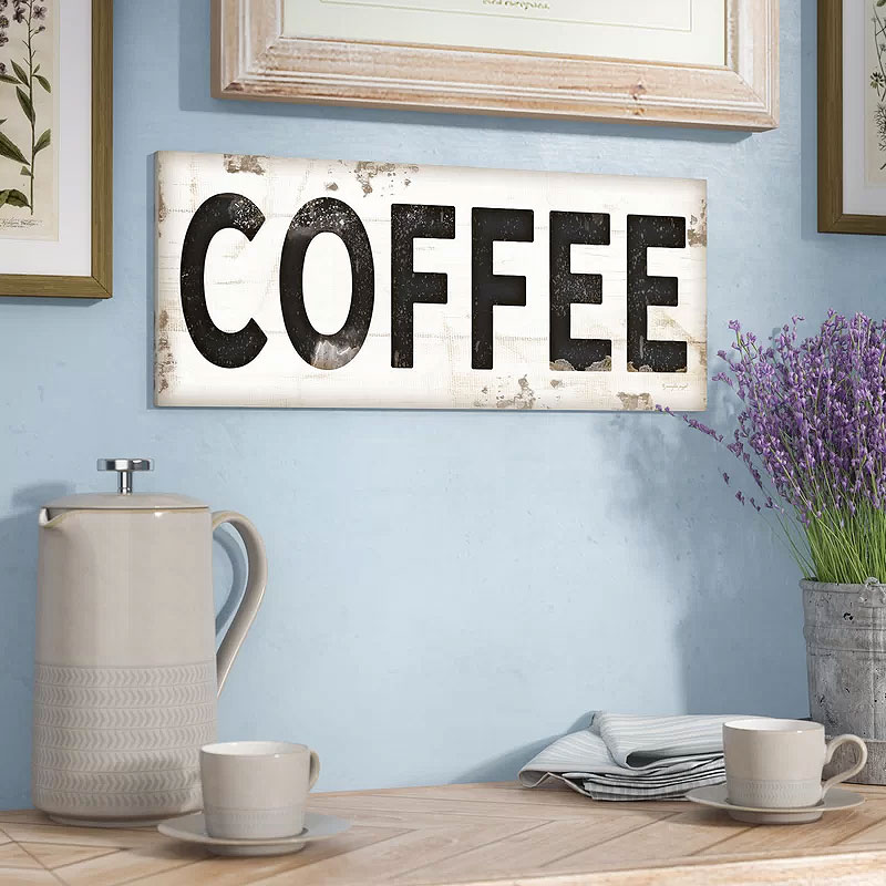 Coffee Typography Vintage Sign