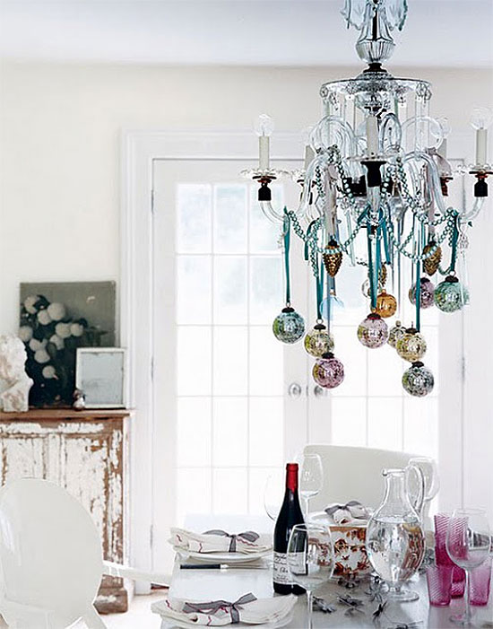 Cool & Sophisticated Decorated Chandelier