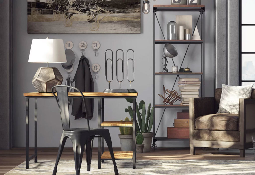 Minimalist Industrial Home Office Design
